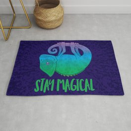Stay Magical Levitating Chameleon Rug