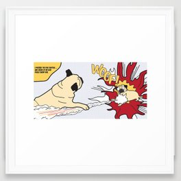 WOOF! Framed Art Print