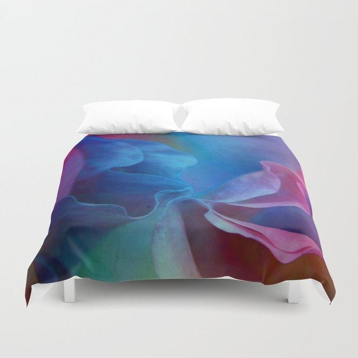 Colored Flower Duvet Cover