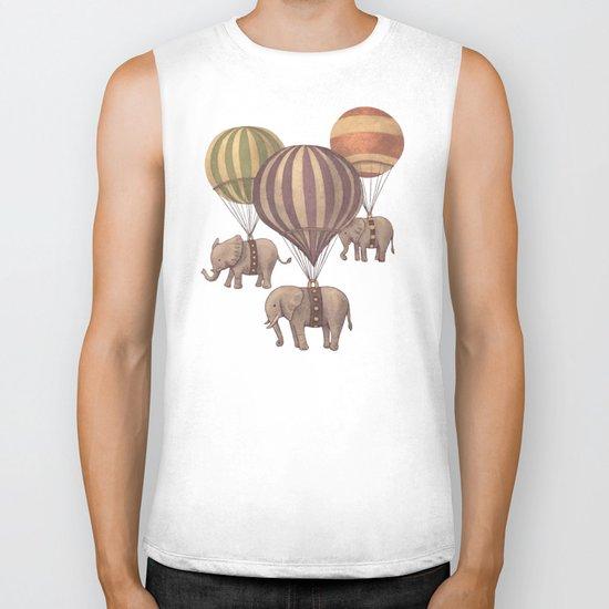 Flight of the Elephants - colour option Biker Tank