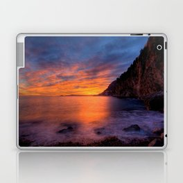 Mala Beach Sunset French Riviera Laptop & iPad Skin