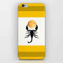 A Scorpion With The Moon In The Frame #decor #homedecor #buyart #pivivikstrm iPhone Skin