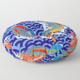 Koi fish / japanese tattoo style pattern Floor Pillow