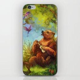 Bear and ukulele iPhone Skin