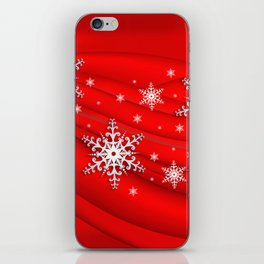 Abstract background with snowflakes iPhone Skin