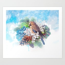 Floral Winter Magic Art Print