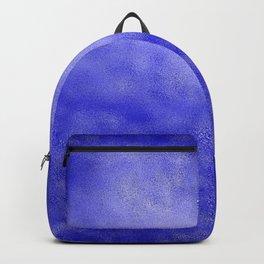 Neon Blue Metallic Foil Backpack