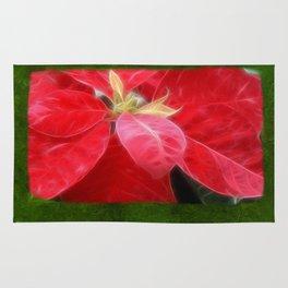 Mottled Red Poinsettia 2 Blank P1F0 Rug