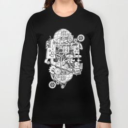 DINNER TIME FOR THE ROBOT Long Sleeve T-shirt
