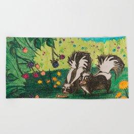 Skunk Picnic Beach Towel