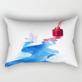 The drama of causality Rectangular Pillow