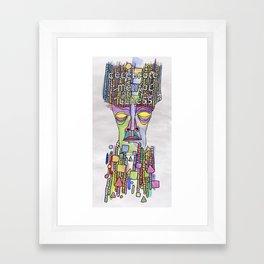 Celebrate Mental Illness Framed Art Print