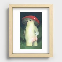 Toadstool Tushie Recessed Framed Print