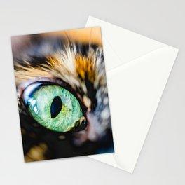 Emerald Cat Eye Photo Stationery Cards