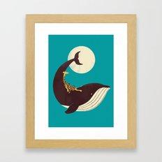 The Giraffe & the Whale Framed Art Print