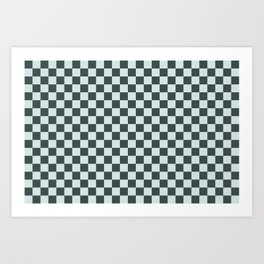 Checkerboard Pattern Inspired By Night Watch PPG1145-7 & Cave Pearl PPG1145-3 Art Print