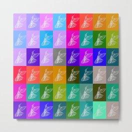 Rainbow Hummingbirds Metal Print