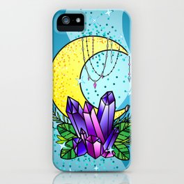 Mystical Crystals and Moon iPhone Case