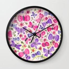Happy Butterflies Wall Clock