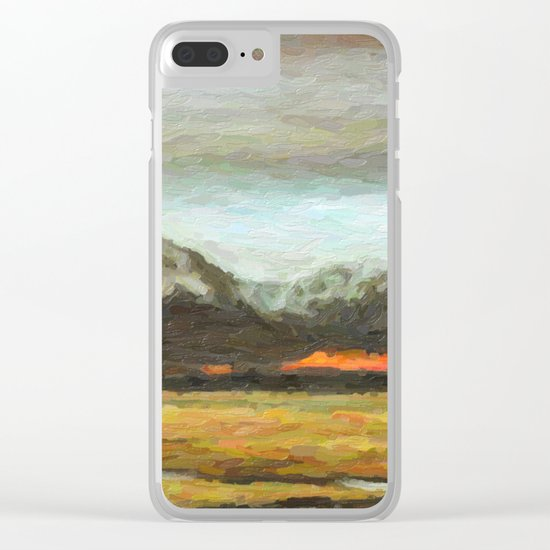 Abstract Andean Landscape Clear iPhone Case