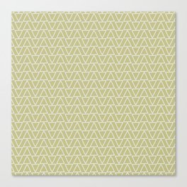 Abstract geometric pastel green white gradient triangles Canvas Print