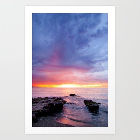 horizon on fire Art Print