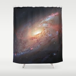 Spiral Galaxy M 106 Shower Curtain