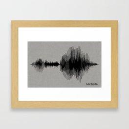 Michelle Sound Waves Framed Art Print