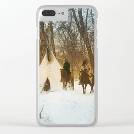 The winter camp - Crow (Apsaroke) Indians Clear iPhone Case