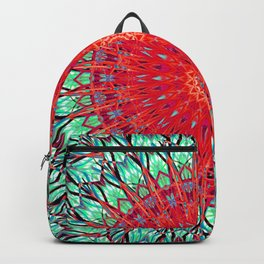 Red Thistle Mandala Backpack
