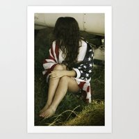 american Art Prints featuring American  by Blurredsoul