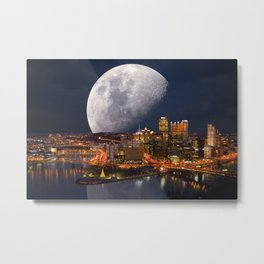 Spacey Pittsburgh Metal Print