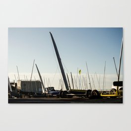 Sailboats Chars à voile Canvas Print
