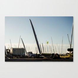 Sailboats Chars à voile Canvas Print