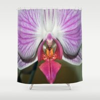orchid Shower Curtains featuring Orchid  by Sammycrafts