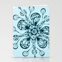 snowflake Stationery Cards featuring Snowflake by Laura Maxwell