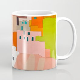 italy coast houses minimal abstract painting Coffee Mug