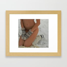 SnowGirl Framed Art Print