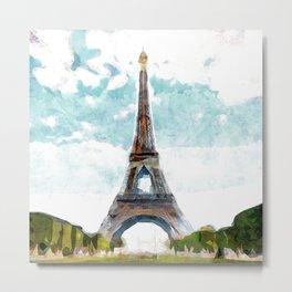 Paris Tour Eiffel Metal Print