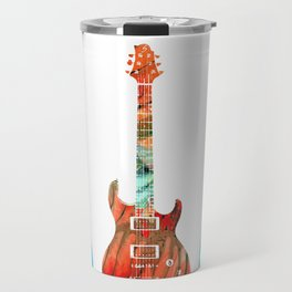 Abstract Guitars by Sharon Cummings Travel Mug