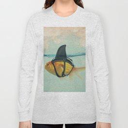 Goldfish with a Shark Fin Long Sleeve T-shirt