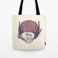 Fox & Lavender Tote Bag
