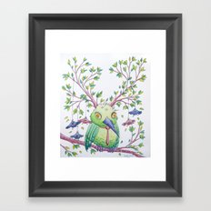 Flying school II Framed Art Print