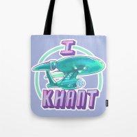 enerjax Tote Bags featuring I KHANT by enerjax