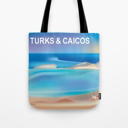 Turks and Caicos - Skyline Illustration by Loose Petals Tote Bag