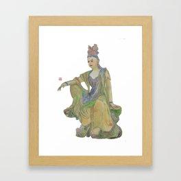 Guanyin Goddess of Mercy Framed Art Print