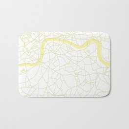 London White on Yellow Street Map Bath Mat