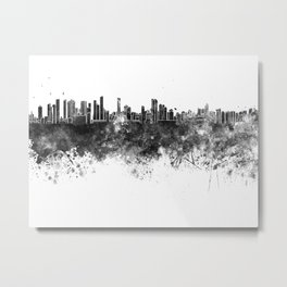 Belem skyline in black watercolor Metal Print