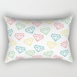 Shine Bright Like a Diamond - White Rectangular Pillow