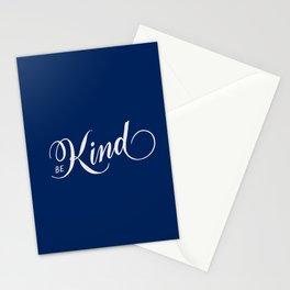 Be Kind Blue Inspirational Stationery Cards